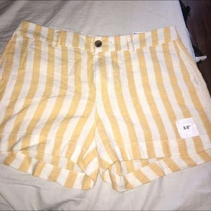 Old navy yellow stripe shorts